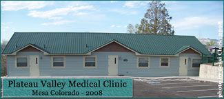 Plateau Valley Medical Clinic in Mesa Colorado in 2008